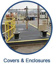 Custom manufactured fiberglass covers and enclosures are the perfect solution for highly corrosive materials, as well as for containing odors