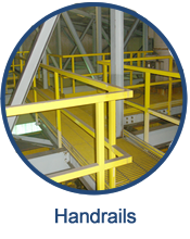 Fiberglass handrails are a safe, long lasting alternative for industrial and commercial applications