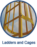 Fiberglass ladders and cages are a long-lasting option perfectly suited to industrial and highly corrosive environments.