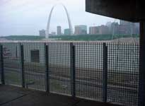 Bi-State Metro Link in St. Louis replaced its steel windscreen and benches with FRP.